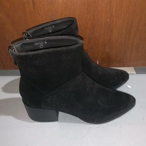 NWOT Heeled Ankle Booties with Pointed Toe